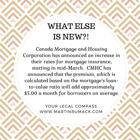 canadian mortgage and housing corporation what else is new canada mortgage and housing corporation raises premiums again law firm of