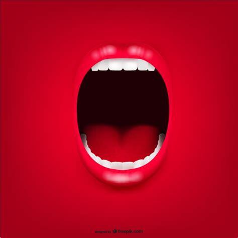 imagenes de bocas rojas vector de boca gritando descargar vectores gratis