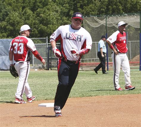 slow pitch softball homerun swing member of slow pitch national team connell honored by asa