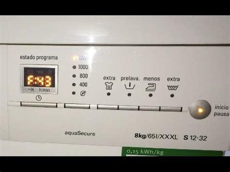 Bosch Waschmaschine Fehlercode Löschen by Error F43 Lavadora Siemens Wm12s321ee Soluci 243 N