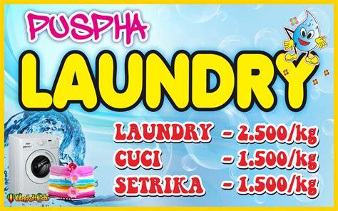 desain kartu nama laundry desain spanduk banner laundry file cdr omah corel