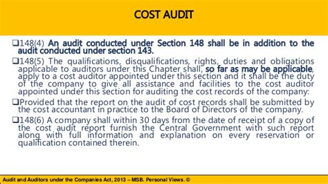 section 76 of the companies act discussion on chapter x audit and auditors under the