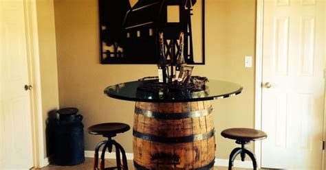 whiskey barrel kitchen table beautiful daniel s whiskey barrel as kitchen table with glass top home sweet home