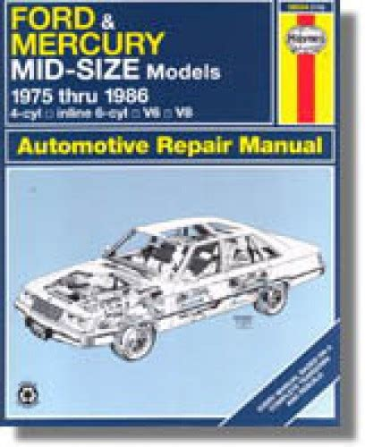 what is the best auto repair manual 1986 lincoln town car spare parts catalogs used haynes ford mercury mid size 1975 1986 auto repair manual