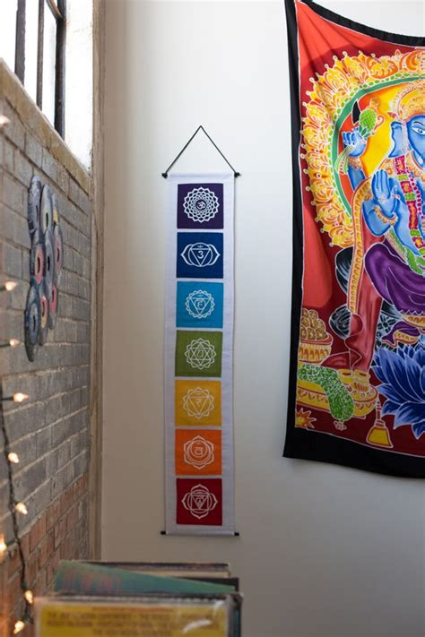 earthbound home decor this banner features the 7 main chakras and their