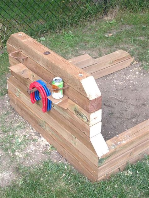 how to build a horseshoe pit in your backyard horseshoe pits projects to try pinterest backyards