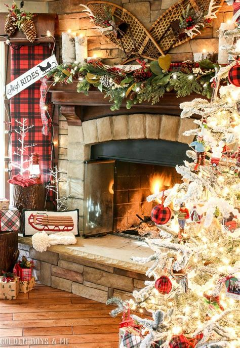 how to decorate the house golden boys and me sleigh ride christmas mantel