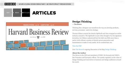 design thinking harvard business review design thinking in harvard business review at ideo ideo
