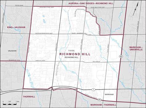 map of richmond hill ontario canada richmond hill maps corner elections canada