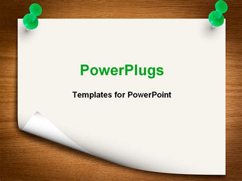 powerpoint template sheet held with two green pins on