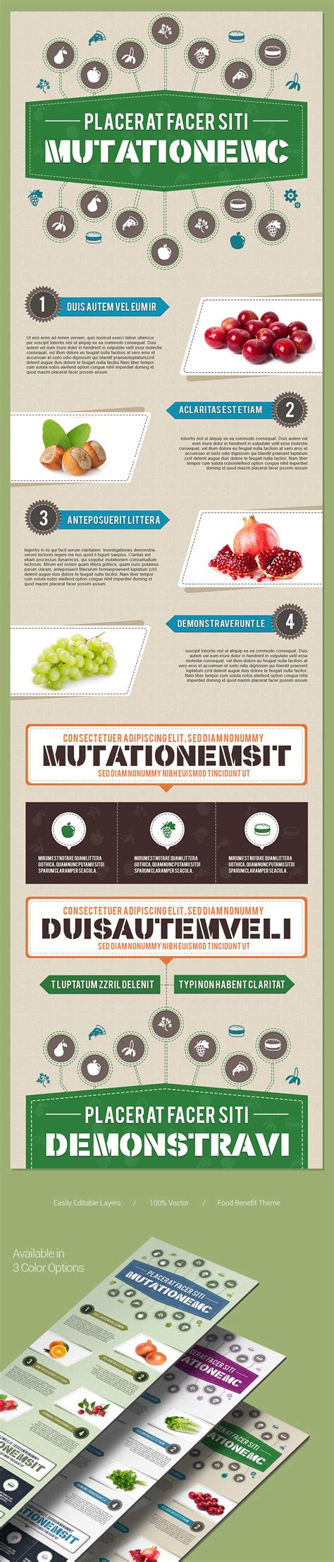 free psd infographicstemplate in food theme zippypixels