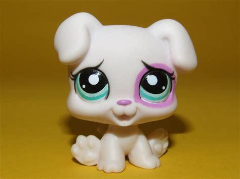lps puppies littlest pet shop lps white pink baby boxer puppy 1534 ebay