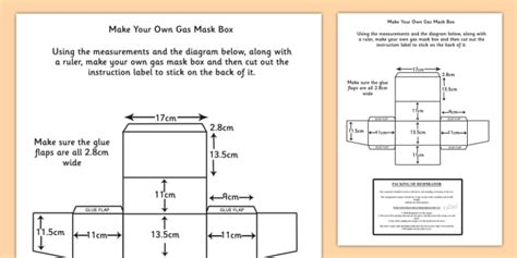 printable gas mask box template word war two make your own gas mask box instructions and label