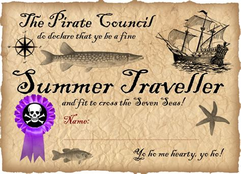pirate certificate template summer traveller pirate certificate rooftop post printables