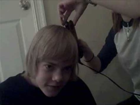 forcefully curling his long hair curling johnny s hair youtube