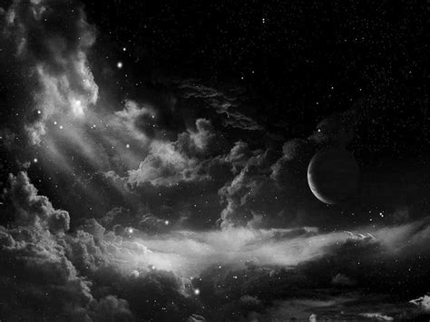 Sky Wallpaper Black And White | night sky backgrounds wallpaper cave
