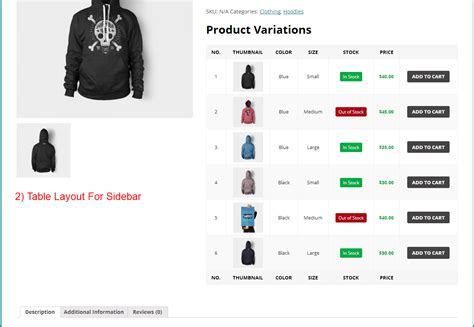 Woocommerce Product Variations Layouts By Nbgoyani Codecanyon Woocommerce Product Listing Page Template