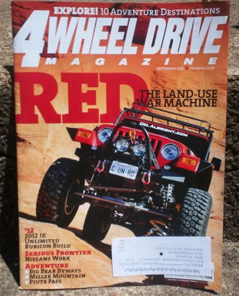 Jeep Magazines Albright Jeep On Cover Of 4wheel Drive Magazine