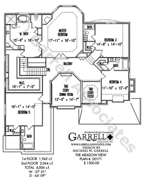 House Perspective With Floor Plan by Meadow View House Plan Craftsman House Plans