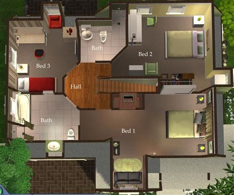sims 3 4 bedroom house design 7 bedroom house plans sims 3