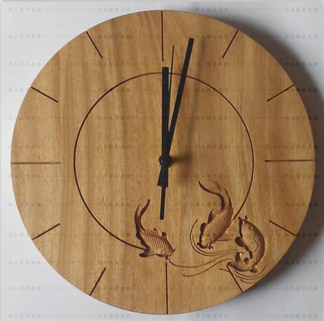 Jam Dinding Vintage Wood Brown carving fish wooden clock wall clock buy clock wall clock wooden clock product on alibaba
