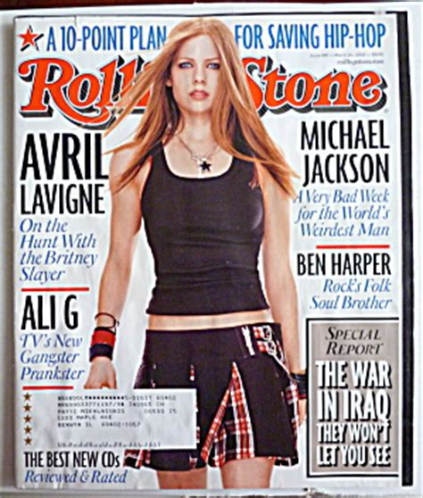 Avril Lavigne Does Day Magazine by Rolling Magazine March 20 2003 Avril Lavigne