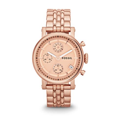 fossil original boyfriend chronograph stainless steel