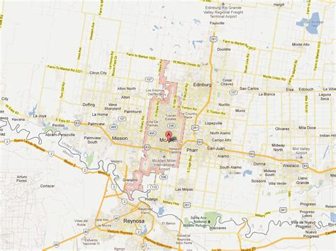 map of mcallen texas mcallen texas map