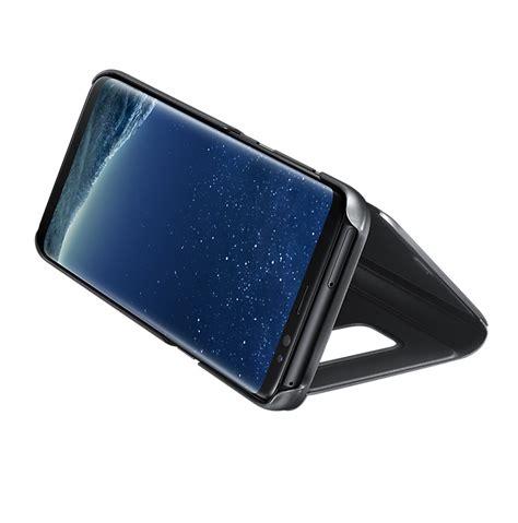 Original Samsung Galaxy S8 Clear View Stand Cover Silver samsung clear view stand cover ef zg950cbegww оригинален кейс с поставка през който виждате