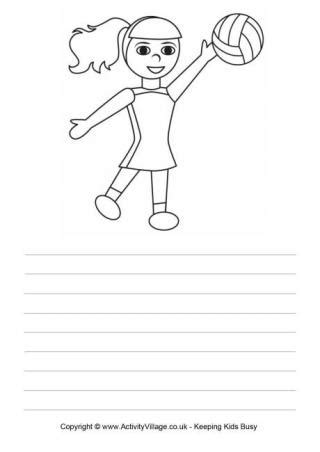coloring pages netball netball theme for kids