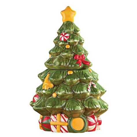 christmas tree cookie jar by collections etc ebay