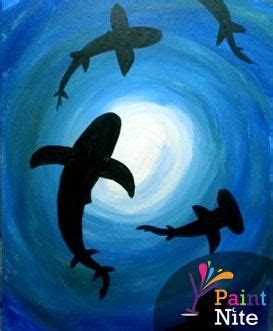 paint nite upland best 25 shark painting ideas on jellyfish
