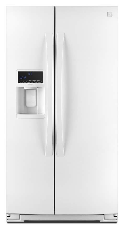 side by side house kenmore elite 51772 28 cu ft side by side refrigerator white
