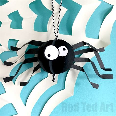 Paper Spider Craft - paper spider craft how to make a 3d spider out of paper