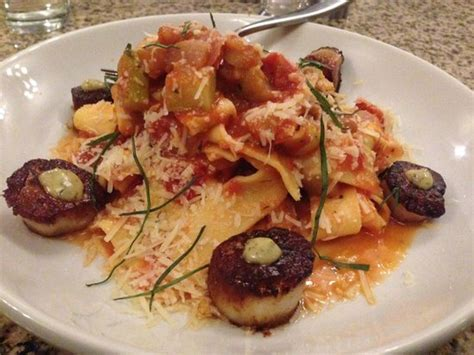 Garden Bistro Slingerlands by Pappardelle With Roasted Ratatouille And Seared Scallops