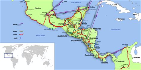 road map central usa central america road map images