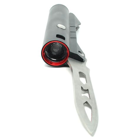 Pisau Lipat Multifungsi Eiger pisau lipat multifungsi 2 in 1 dengan senter led black