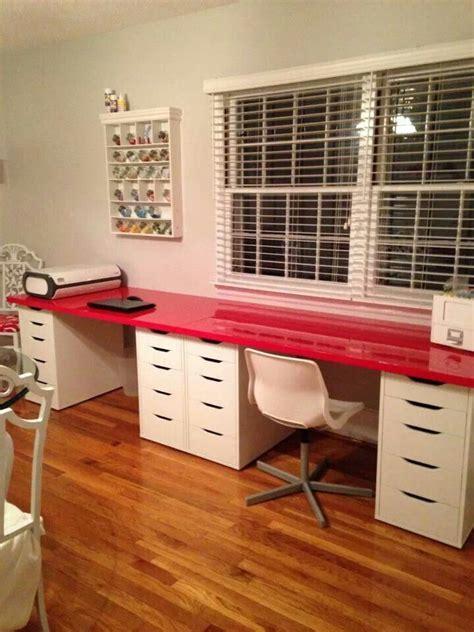ikea kallax unit desk hack  alex drawers google