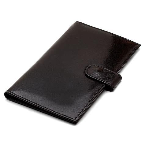 Card Holder Wallts Wallet Aiken Black leather credit card checkbook holder wallets