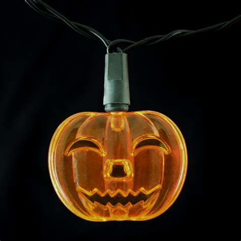 pumpkin light pumpkin led string lights battery operated 10 lights