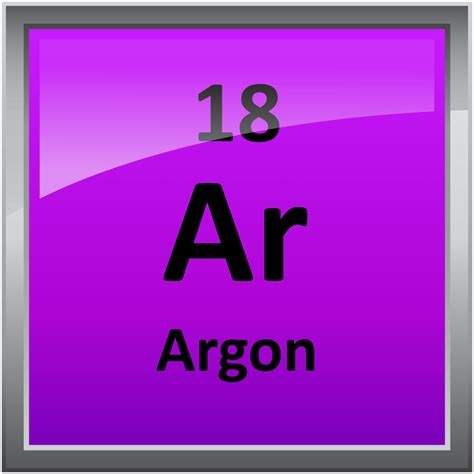 Periodic Table Argon 018 argon science notes and projects