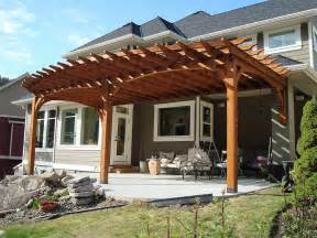Attached Pergola Ideas by Shaded Attached Pergola Design Plans For Your Home