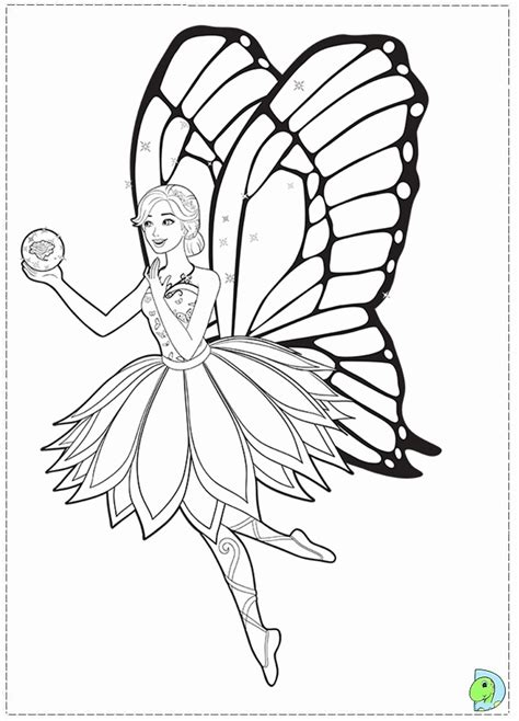 Barbie Fairy Princess Coloring Pages - Coloring Home