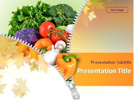 Download Autumn Vegetables Powerpoint Template Free Health And Nutrition Powerpoint Templates