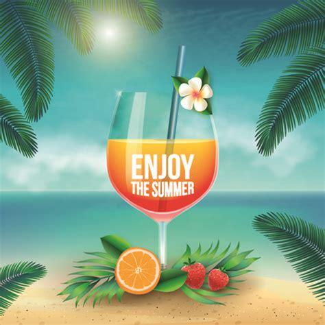 Enjoy Summer enjoy summer vector background free