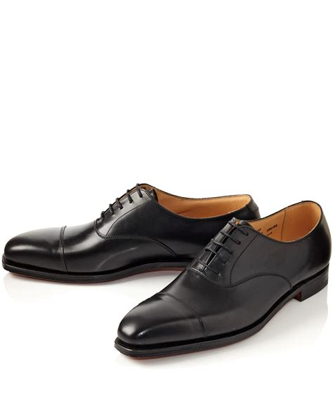 crockett and jones oxford shoes crockett and jones black hallam leather oxford shoes in