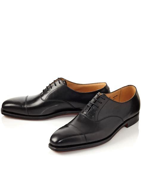 black oxfords shoes lyst crockett and jones black hallam leather oxford
