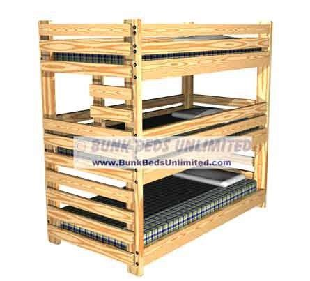 14 Best Triple Bunk Bed Plans Images On Pinterest Bunk Bunk Bed Kits To Build