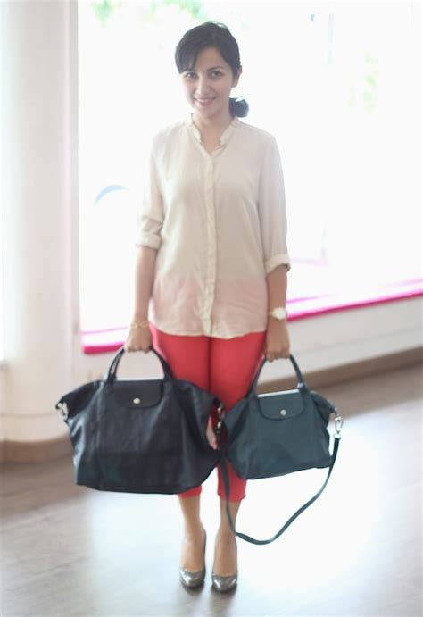 Longch Cuir Small 11 longch le pliage cuir size comparison between small vs large daily