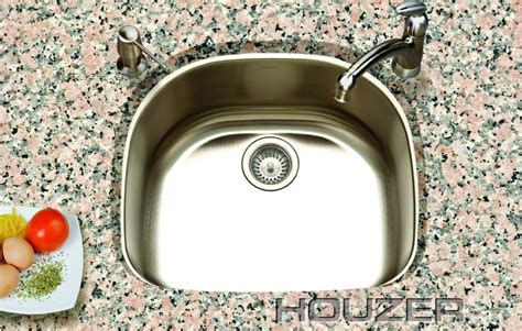 Houzer Sts 1400 1 Easton Single Bowl Undermount Stainless Kitchen Sink Sts